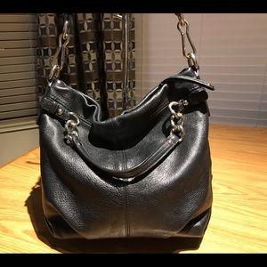 Coach Black Brooke Pebbled Leather Shoulder Bag
